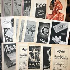 98 x Zeitungswerbung Schokolade ab 1920 - Stollwerk, Milka, Suchard u.v.a.