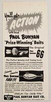 1954 Print Ad Paul Bunyan Original 66 & Flash Eye Fishing Lures Minneapolis,MN