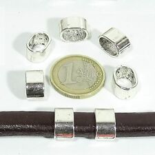 24 Abalorios Para Cuero Regaliz 13x9mm T144C Plata Tibetana Leather Beads Cuir