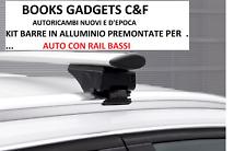 Bmw 5 Touring (10>17) Kit Barre in Alluminio Premontati Portatutto (RAIL CHIUSI)