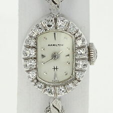 1960s Ladies Hamilton Diamond Watch - 14k Gold Mechanical 2 Yr Warranty .26ctw