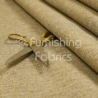 Soft Flat Basket Weave Brown Bronze Chenille Plain Upholstery Furnishing Fabric