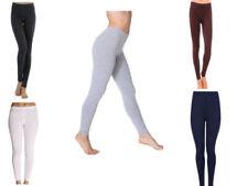 Women Cotton Full Length Leggings Yoga Pants Ankle Long Premium S M L XL 2XL