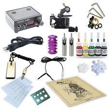 Pro Tattoo Kit 1 Liner/Shader Machines Tattoo Gun Power supply Switch Ink TK-19