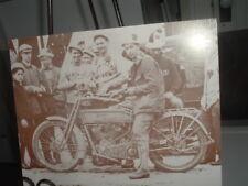 Vintage HARLEY DAVIDSON Motorcycle Sepia Photo Milwaukee Factory C1930