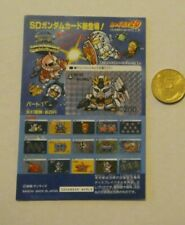 GUNDAM SD CARDDASS BEST SELECTION CARD CARTE MINI DISPLAY 1 MADE IN JAPAN MINT