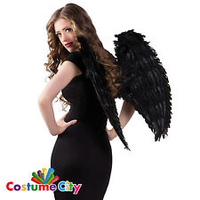 BLACK Angel Ali da Demone Halloween Fancy Dress Party Accessorio Costume