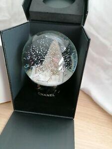 Chanel Xmas Tree Snow Globe Rare Vip GIFT.