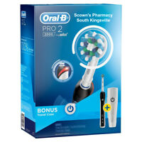 Oral-B Pro 2 2000 Black Electric Toothbrush Black with Travel Case Special Offer