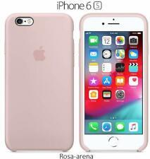 Funda SILICONA para iphone 6 y 6s logo manzana, suave, forro microfibra calidad