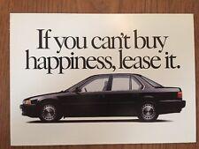 1991 Honda Accord ORIGINAL Factory Postcard 3,4,& 5 year Lease!!