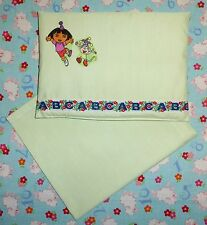 New Dora Boots green toy pram cot bed sheet and pillow set baby doll teddy bear