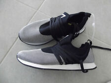 New Mens GUESS Nepal Sneaker  Athletic Shoes Black White Sz. 9