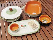 New listing Terracota Cooking Dishes. De Silva Terre D'Umbria. Saucepan, Pots, Tray, Lids