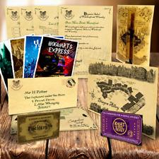 Harry Potter PERSONALISED Hogwarts Acceptance Letter + Maps, Spells + MORE