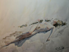 Contemporary Art/ Original Painting by American Artist Grace Eun Jung/ Nude