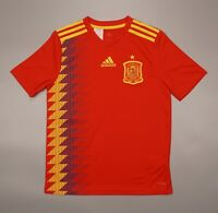 NWOT Spain Home 2017 2019 Football Soccer Shirt Jersey Adidas Youth Size L Kit