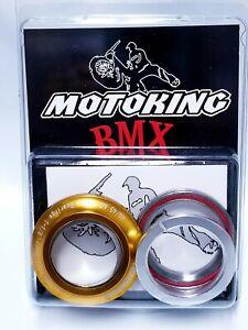 "MotoKing Bmx 1-1/8"" Integrated Headset Gold Firs DK, Fit, Redline, GT, Haro,"