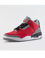 2020 Nike Air Jordan 3 Retro SE GS SZ 6Y Fire Red Cement Grey Black CQ0488-600