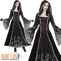 Forgotten Souls Ladies Fancy Dress Halloween Spooky Ghost Womens Adult Costume