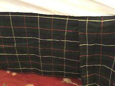 Ralph Lauren Tartan Plaid King Size Bedskirt/ Dust Ruffle Blue Green