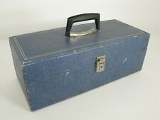 Vintage 8 Track Tape Storage Case 24 Tape Holder Carrier Faux Denim
