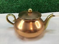 Tagus  R56 Copper And Brass Teapot Small Collectable Ornamental Made In Portugal