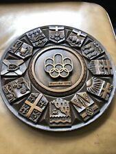 """More details for bin 1976 olympic plaque wood effect 12"""" across"""