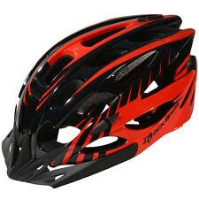 RockBros Cycling Road MTB Helmet Size M/L 57cm-62cm Helmet Black Red