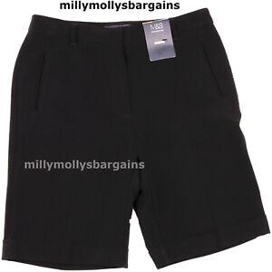 New Womens Marks & Spencer Black Shorts Size 10 Petite