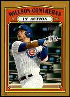 Willson Contreras 2021 Topps Heritage 5x7 Gold #42 /10 Cubs In Action