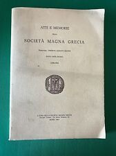 ATTI E MEMORIE DELLA SOCIETÀ MAGNA GRECIA. Nuova serie XXI-XXIII (1980/1982)
