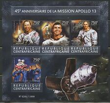 Central Africa 2015 45th Ann Of The Apollo 13 Mission Sheet Mint Nh