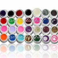 28 Pcs Mix 12 Pure 16 Glitter Color UV Builder Gel Nail Art Fasle Tips Salon Set