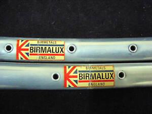 BIRMALUX SPRINT Bicycle Tubular Rims 700C 36 holes NOS  (1pair)  Made in England