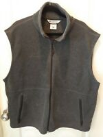 COLUMBIA Men's XL Fleece Vest Charcoal Gray Pockets Zip Up Size X Large *VGC*