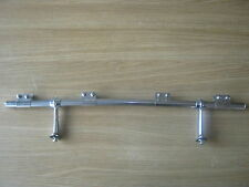 CLASSIC STAINLESS STEEL BADGE BAR 24 INCH CRANKED WITH FEET AND 4 CLIPS *NEW*