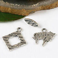 10sets Tibetan silver toggle clasp charms h2858