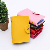 New Men Women Travel Cards Wallet PU Leather Business ID Card Credit Card Holder