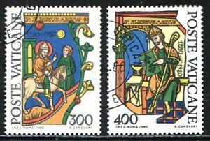 Europa 1981 VATIKANSTADT Motiv Albertus Magnus Satz Mi Nr 777 - 778 gestempelt