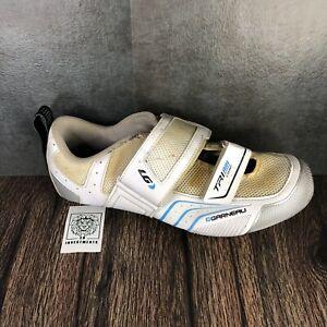 Louis Garneau Tri Air Comp White Cycling Shoes Women's Euro 41 Fast Ship!
