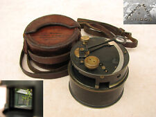More details for francis barker post ww1 era pocket box sextant with leather case.