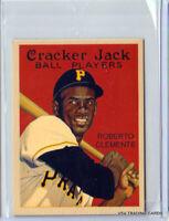 ROBERTO CLEMENTE, Cracker Jack, Reprint Baseball Card, Pittsburgh Pirates