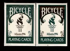 1 set 1996 Atlanta Olympics Bicycle PLAYING CARDS 2 deck set in case