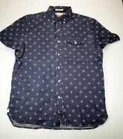 Levi's Men's Button Up Short Sleeve Shirt Size M Standard Fit