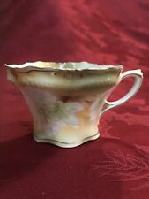 Antique RS Prussia Tea Cup Yellow Green White Hydrangea
