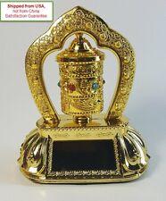 Chinese Buddhist Tibetan Solar Prayer Spinning Wheel Bell OM MANI TIBET Car Deco