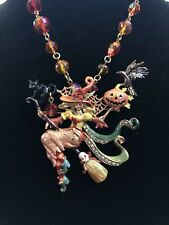 Kirks Folly Divine Diva Harvest Witch Pin/Enhancer With Chain NEW RARE