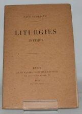 VERLAINE Liturgies Intimes édition en partie originale poésie poëte 1893
