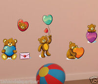 Bären Bärchen Kinder Baby Wandtattoo Wand Raum Deko Aufkleber Sticker XXL